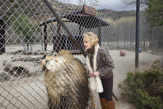 Tippi Hedren with Lion
