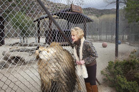 Tippi Hedren with Lion