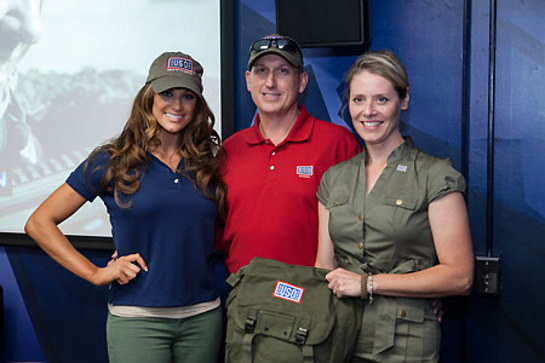 Eve Torres dropped by for a Labor Day visit with sailors and military families at the USO Naval Great Lakes in North Chicago.