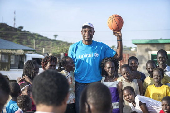 Dikembe Mutombo in Kenya.