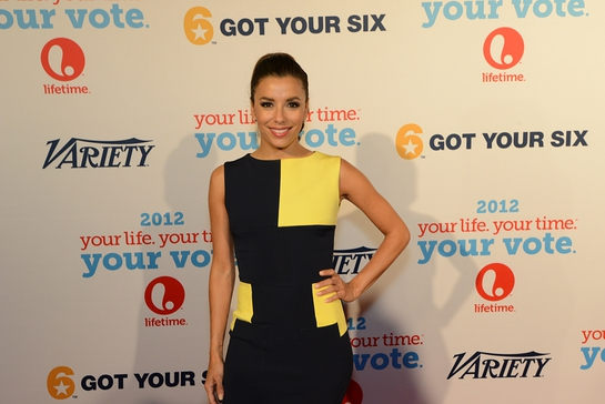 Eva Longoria at the Got Your 6 and Lifetime TV Event in Charlotte, NC during the DNC.