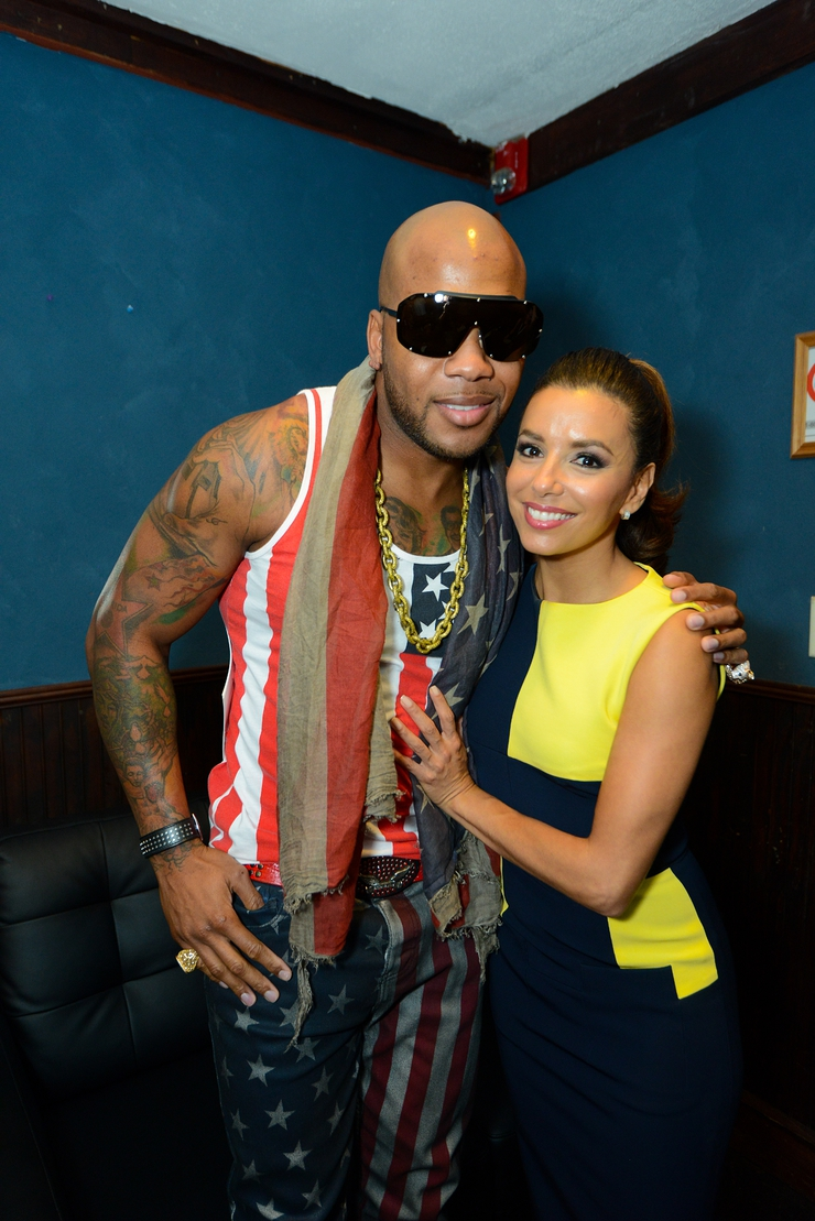 Flo Rida and Eva Longoria at the Got Your 6 and Lifetime TV Event in Charlotte, NC during the DNC.
