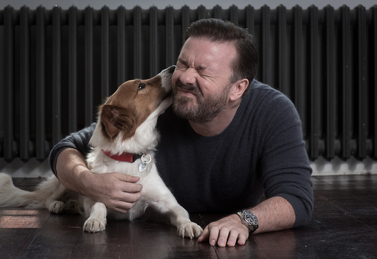 Ricky Gervais and Barney
