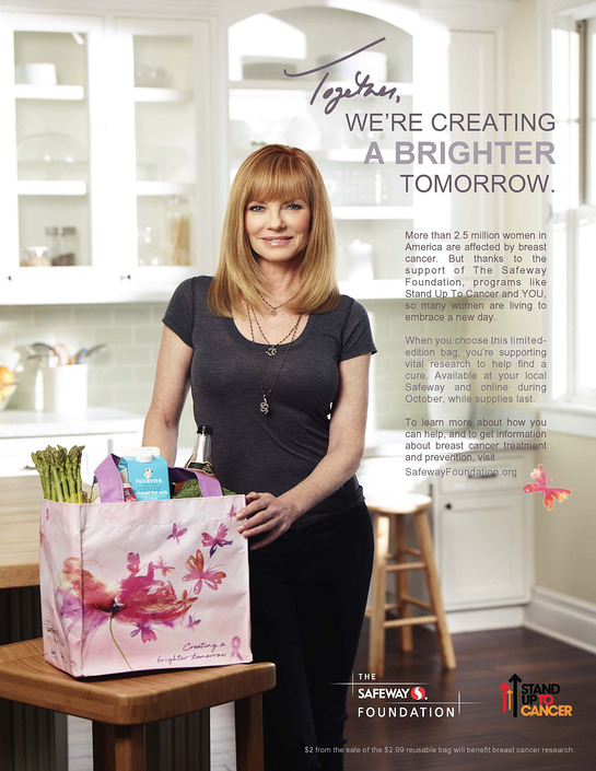 Marg Helgenberger to appear in PSA campaign for The Safeway Foundation & SU2C.