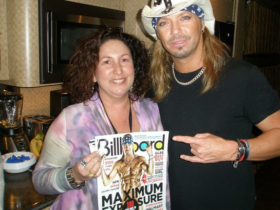 rock CAN roll founder Aimee Holtzman with Bret Michaels