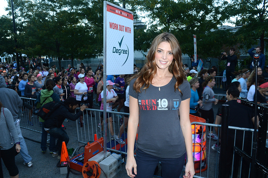 Ashley Greene at Women's Health's RUN 10 FEED 10