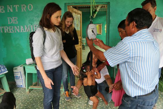 Alexis Bledel in Honduras with ONE