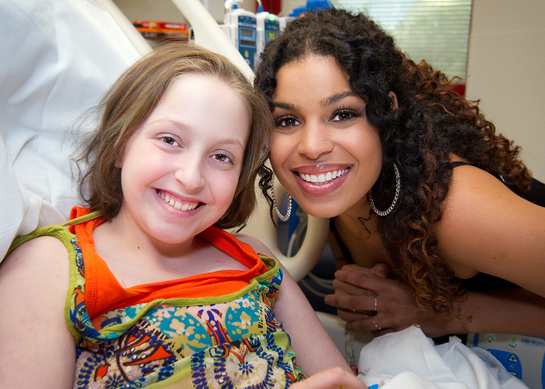 Jordin Sparks shared some very special moments with St. Jude patient Alyssa, including a smile while filming the Hey Jude video.