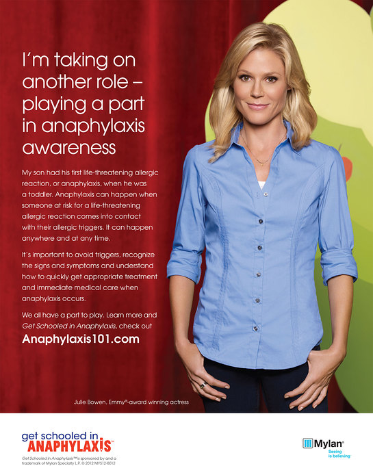 Julie Bowen - Get Schooled in Anaphylaxis