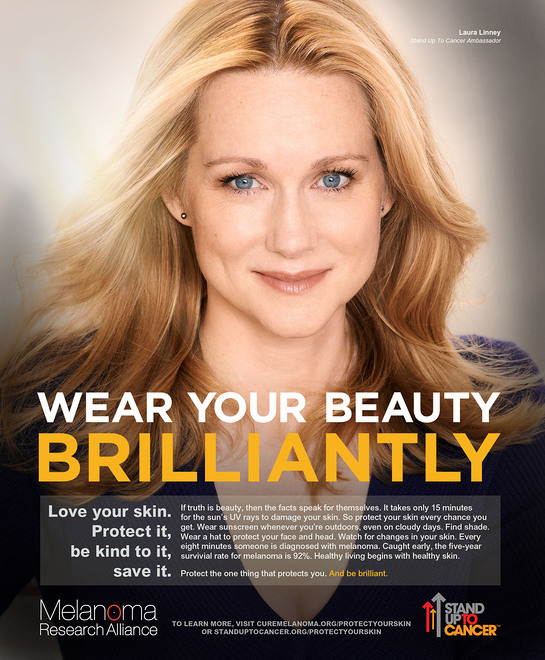 Laura Linney to appear in PSA campaign for the Melanoma Research Alliance & SU2C.