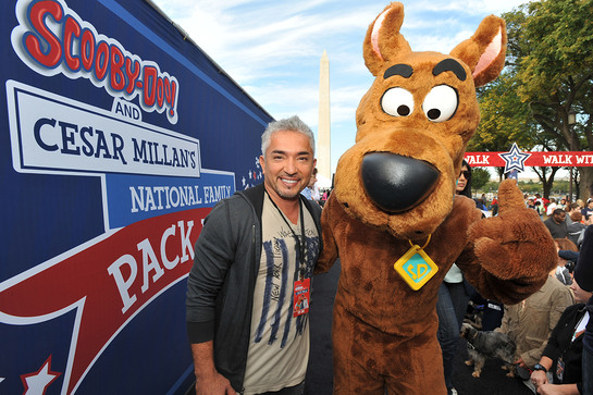 Cesar Millan and Scooby-Doo take over the National Mall at the Second Annual National Family Pack Walk