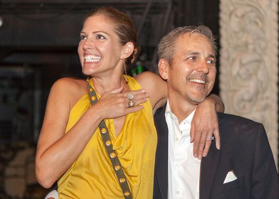 Tricia Helfer and her husband win tickets to Trey Parker's Book Of Mormon
