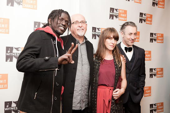 Emmanuel Jal, Peter Gabriel, Feist and Alan Cumming at WITNESS 20th Anniversary Benefit.