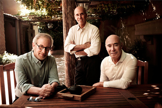 Steven Spielberg, Jeffrey Katzenberg and David Geffen Donate $30 Million Each Towards The $350 Million MPTF Campaign. Left to right: Steven Spielberg, Jeffrey Katzenberg, David Geffen.