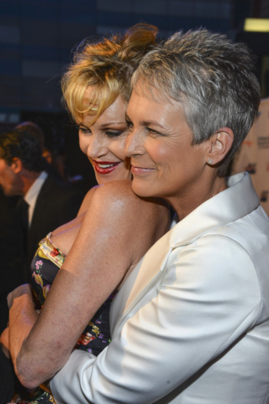 Melanie Griffith and Jamie Lee Curtis