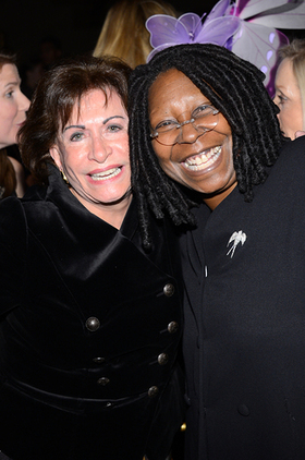 Whoopi with Lupus Foundation of America president and CEO Sandra Raymond