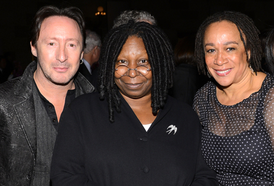 Julian Lennon, Whoopi Goldberg, and S. Epatha Merkerson