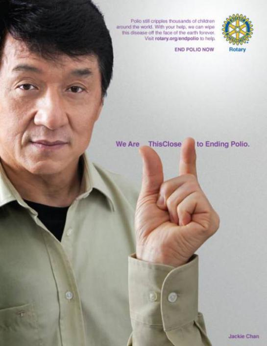Jackie Chan This Close To Ending Polio