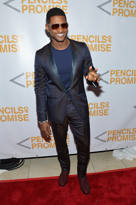 Usher on the Red Carpet at Pencils of Promise Gala