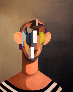 George Condo, The Young Sailor, 2012, Oil on linen, 40 x 32 inches, Courtesy of the artist and Skarstedt Gallery, New York, Estimate: $150,000-200,000.