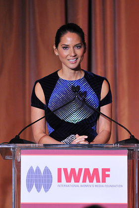 Olivia Munn at IWMF Courage In Journalism Awards