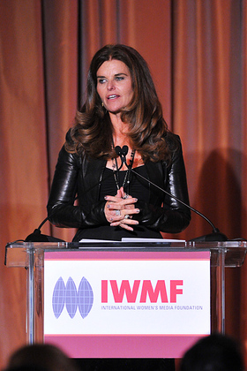 Maria Shriver at IWMF Courage in Journalism Awards