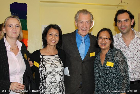 Jennifer Fear, Sir Ian McKellen and the Step Forward Team