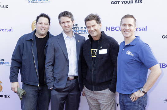 Greg Grunberg, Chris Marvin, Managing Director of Got Your 6, D.W. Moffett and Eric Greitens, CEO of The Mission Continues