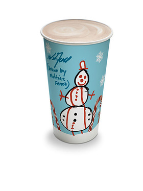 Will Ferrell and son design holiday hot-beverage cup for 7-Eleven to raise awareness of Cancer for College charity.
