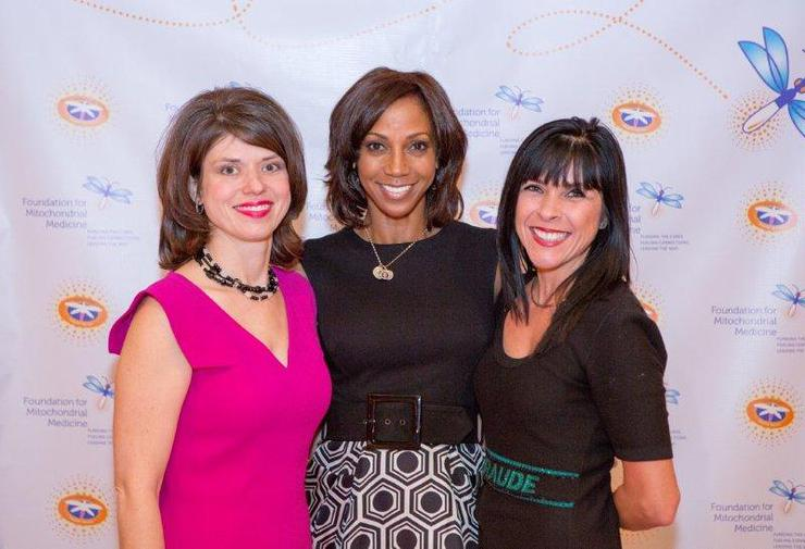 Laura Stanley, Executive director of the Foundation for Mitochondrial Medicine Actress Holly Robinson Peete  Sandra Setin, Board member