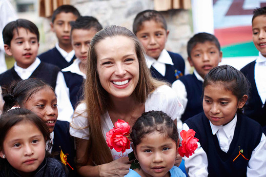 Petra Nemcova, Founder and Chair of Happy Hearts Fund, Partners with Clinique.