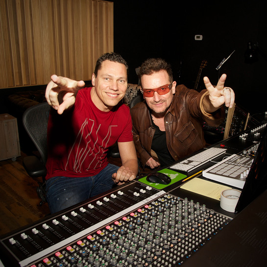 Tiesto and Bono collaborate for (RED) on U2's 'Pride' at Converse Rubber Tracks Studio
