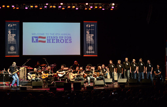 Roger Waters performs with wounded veterans from MusiCorps as part of the Bob Woodruff Foundation's 6th Annual Stand Up for Heroes event