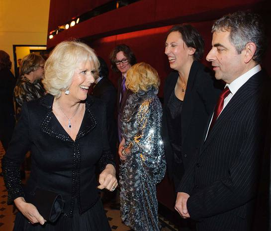 Duchess of Cornwall Meets Rowan Atkinson and Miranda Hart