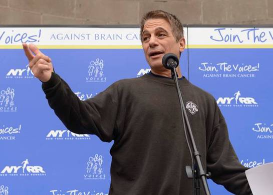 Tony Danza speaks to a crowd of 10,000+ participants to help raise awareness for brain cancer and brain tumor research.