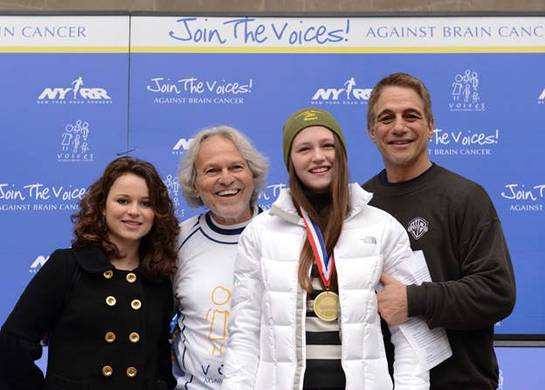 Olympic Silver Medalist Sasha Cohen, Voices Against Brain Cancer founder Mario Lichtenstein, Kayla Thomas and Tony Danza – Kayla is awarded for her contributions toward advancing brain cancer research, including raising over $7k in this year's Run/Walk