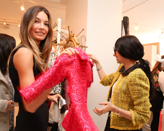 Lily Aldridge takes a minute to help out the kids in need by attending a toy drive at alice + olive store benefiting Baby Buggy, the non-profit organization dedicated to providing families in need with essentials for their infants and children