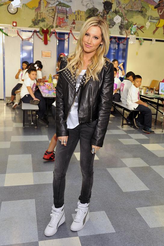 Ashley Tisdale Visits LA's BEST After School Enrichment Program at Pacoima Charter School