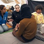 Angelina Jolie Visits Refugees On Syria-Jordan Border