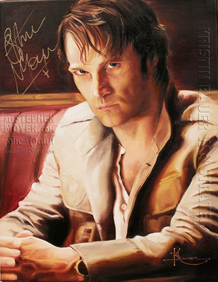 Stephen Moyer Portrait By Kristin Bauer