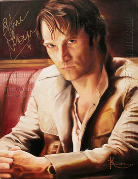 Stephen Moyer Portrait By Kristin Bauer