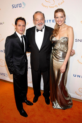 Marc Anthony, Carlos Slim, Petra Nemcova