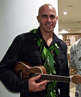 Kelly Slater with the Uke