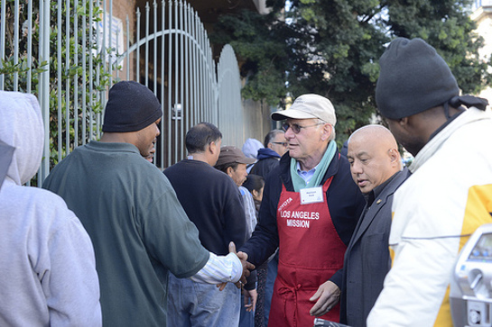 Harrison Ford at the LA Mission, December 24