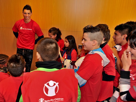 Real Madrid's Cristiano Ronaldo is kicking off the New Year as Save the Children's new Global Artist Ambassador.