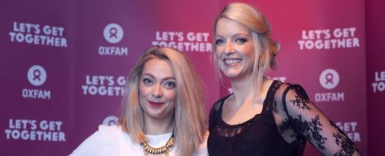 Cherry Healey and Lauren Laverne