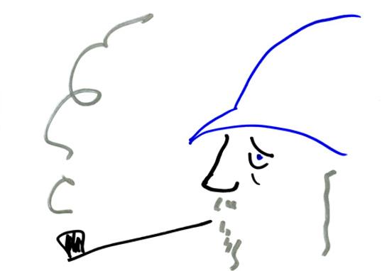 Sir Ian McKellen's Doodle
