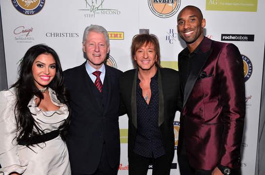 Richie Sambora joined President Bill Clinton and Kobe and Vanessa Bryant at the grand opening of STEP UP ON VINE on Monday, January 14, 2013 in Los Angeles.