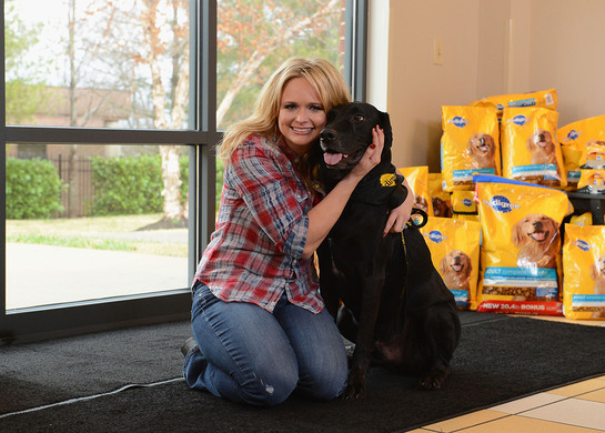 Miranda Lambert kicked-off the national search for the next communities to benefit from The PEDIGREE(r) Feeding Project, an initiative designed to help shelters nationwide.