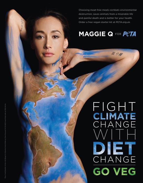 Maggie Q PETA Ad